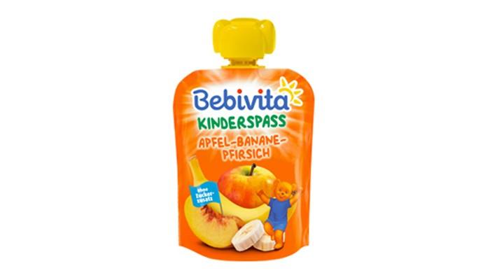 Фото - Пюре Bebivita Пюре Яблоко банан персик с 6 мес. 90 г пюре агуша пюре doy pack яблоко малина шиповник с 6 мес 90 г