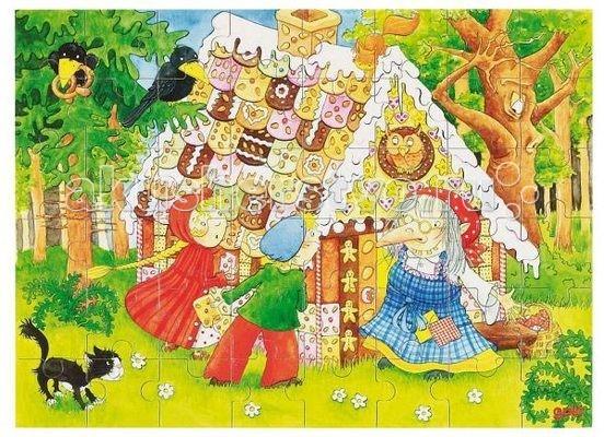 Купить Деревянные игрушки, Деревянная игрушка Goki Пазл в коробке Ганс и Гретель 48 деталей