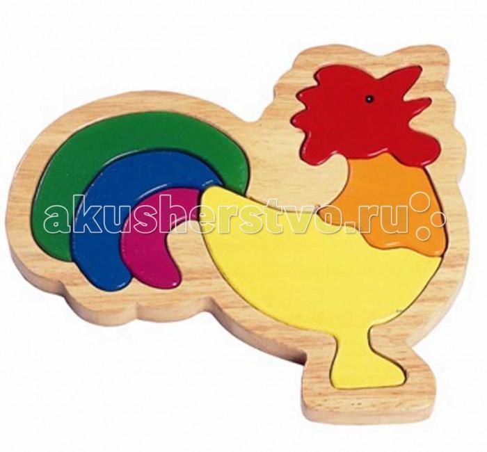 Деревянные игрушки Goki Пазл для малышей Петушок