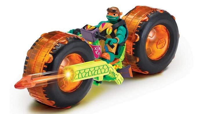 Playmates TMNT Мотоцикл с фигуркой Майки фото