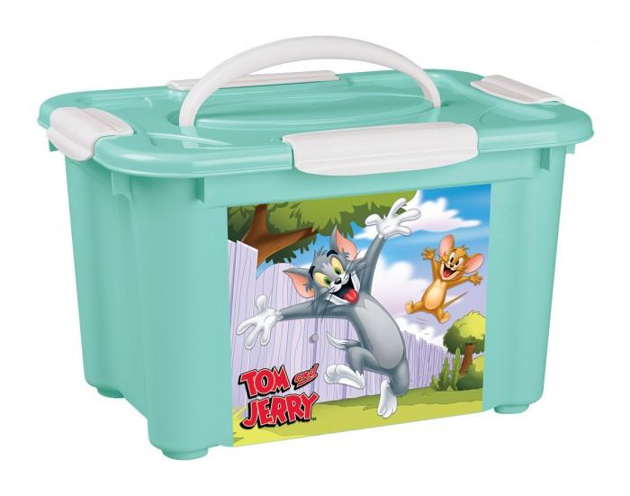 Купить Tom&Jerry Коробка универсальная с ручкой и аппликацией 5.5 л 283х200х170 мм в интернет магазине. Цены, фото, описания, характеристики, отзывы, обзоры