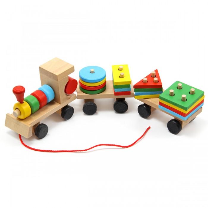 Купить Деревянная игрушка Фабрика фантазий Конструктор-пирамидка Паровозик в интернет магазине. Цены, фото, описания, характеристики, отзывы, обзоры