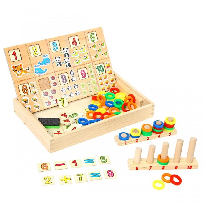 Купить Деревянные игрушки, Деревянная игрушка Фабрика фантазий Логическая игра Веселый счет 2в1