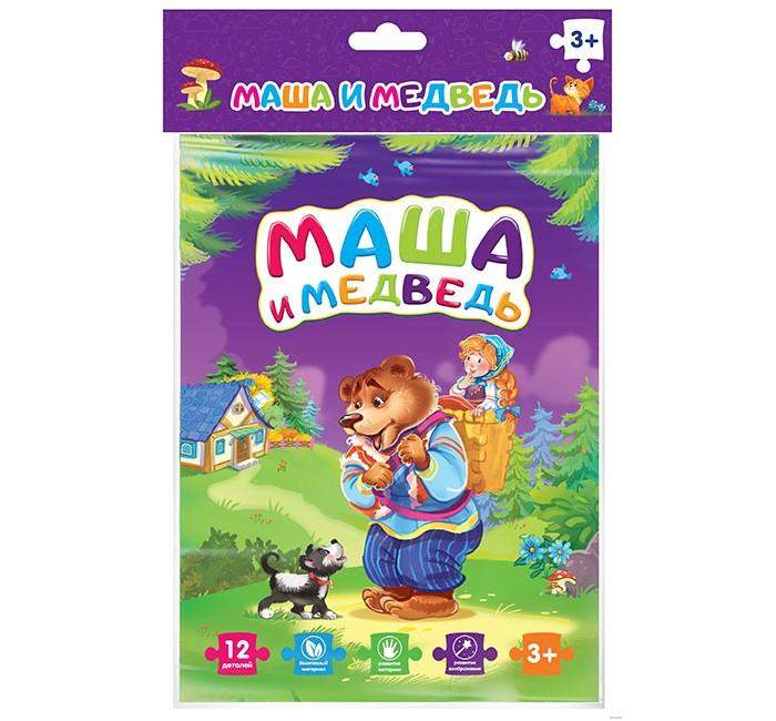 Пазлы Malamalama Мягкие пазлы Маша и медведь (12 элементов)