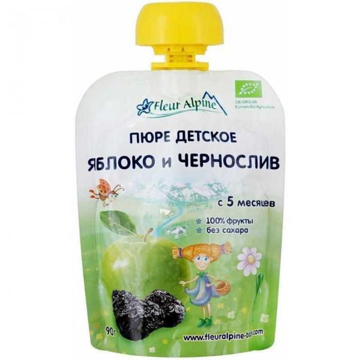Купить Fleur Alpine Пюре Органик яблоко-чернослив с 5 мес. 90 г (пауч) в интернет магазине. Цены, фото, описания, характеристики, отзывы, обзоры