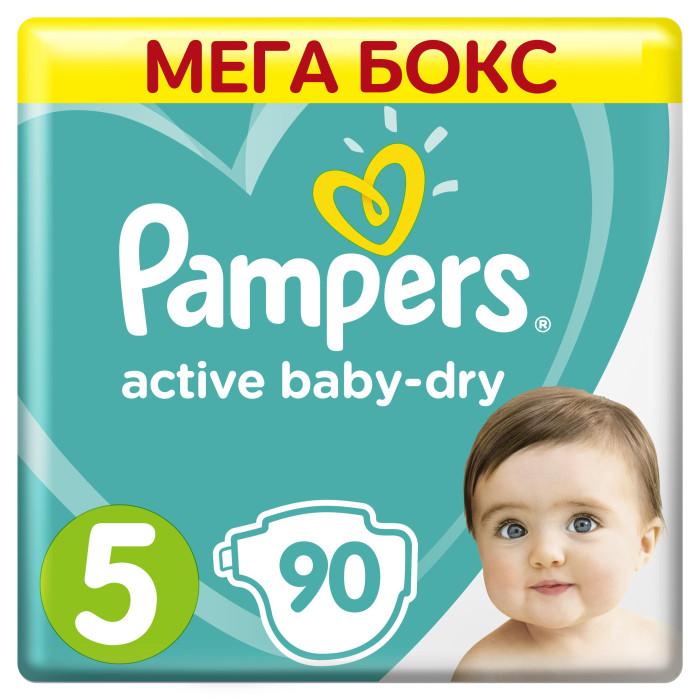Подгузники Pampers Подгузники Active Baby-Dry Junior р.5 (11-16 кг) 90 шт. подгузники pampers active baby dry размер 4 7 14 кг 132 шт