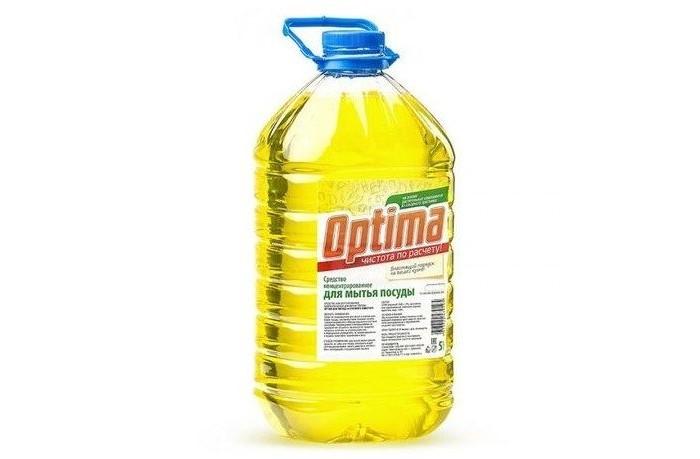 Бытовая химия Synergetic Средство концентрированное для мытья посуды Optima 5 л средство для мытья посуды лайма professional яблоко 5 л