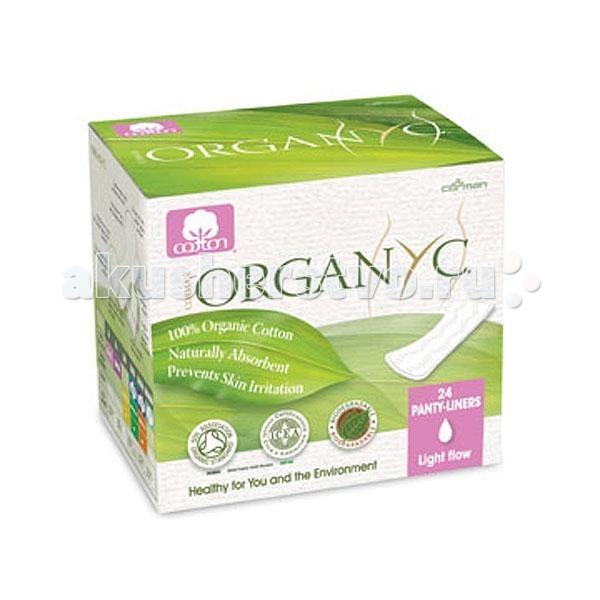 Гигиена для мамы Organyc Прокладки на каждый день в индивидуальной упаковке 24 шт.