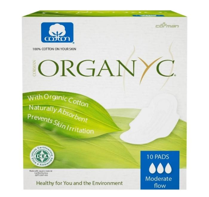 Купить Organyc Прокладки с крылышками Нормал ультратонкие 10 шт. в интернет магазине. Цены, фото, описания, характеристики, отзывы, обзоры