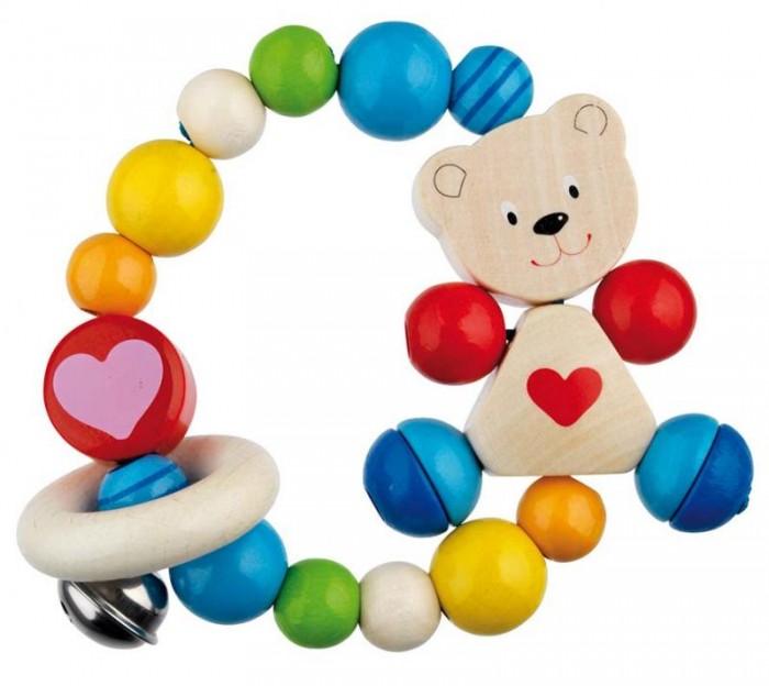 Купить Прорезыватели, Прорезыватель Heimess Игрушка-кольцо эластик Мишка с сердцем