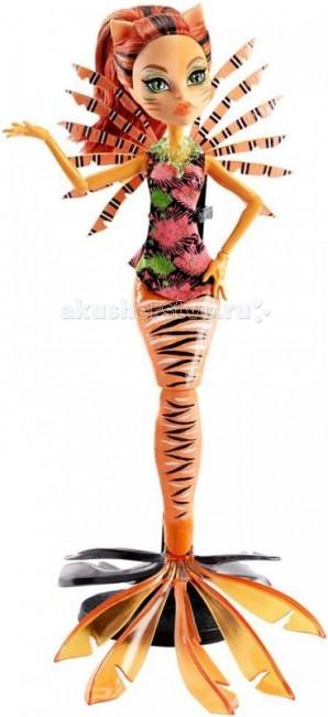 Monster High Кукла Большой Кошмарный Риф Торалей СтрайпКукла Большой Кошмарный Риф Торалей СтрайпКукла Monster High Большой Кошмарный Риф Торалей Страйп не оставит равнодушной ни одну поклонницу Школы монстров.   Особенности: Подвижные ручки и ножки, благодаря чему куклу можно поставить в любую позу. Кукла выполнена из нетоксичных гипоаллергенных материалов: тело — из пластика ABS, голова и руки — из мягкого ПВХ. Высота куклы — 26 см. Наслаждайтесь обществом любимой героини!<br>
