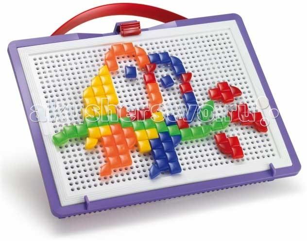 Мозаика Quercetti Мозаика Фантастические цвета 100 деталей (треугольные и квадратные) quercetti бегущие шарики