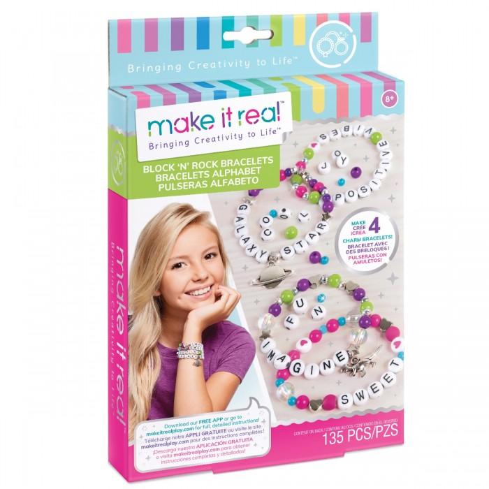 Наборы для создания украшений Make It Real Набор для создания бижутерии Модные браслеты набор косметики make it real