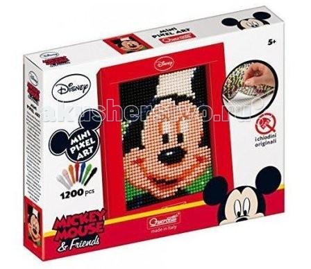 Мозаика Quercetti Пиксельная мозаика серии Мини Микки из 1200 элементов, Мозаика - артикул:74850