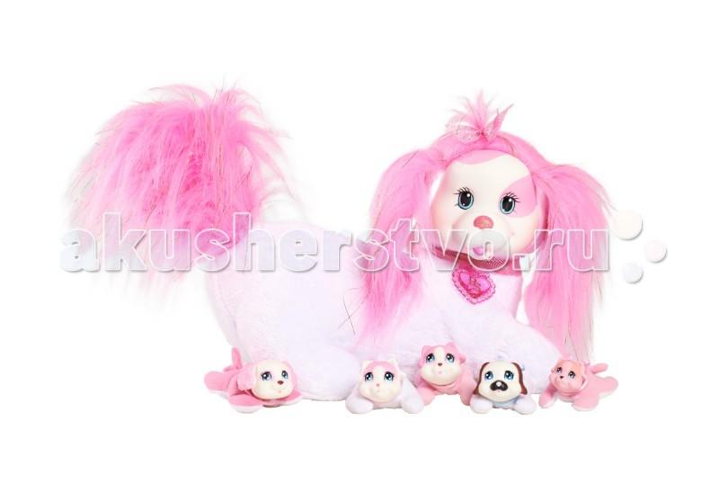 Мягкая игрушка Just play Собачка Рокси и ее щенкиСобачка Рокси и ее щенкиМягкая игрушка Just play Собачка Рокси и ее щенки. У Рокси будут щенки! Угадай, сколько щенков родится? Это сюрприз! Раскрой кармашек на животике собачки. Там ты найдешь 3, может быть, или 4, или даже 5 щенков! Могут родиться девочки и мальчики, близнецы или щенок-малютка. Ещё сюрприз! Один щенок может лаять.   В наборе: мягкая игрушка (собачка), 3-5 щенков.<br>