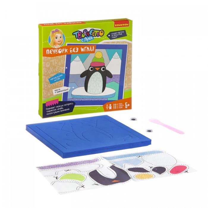 Картинка для Аппликации для детей Bondibon Набор для творчества Печворк без иглы Пингвин