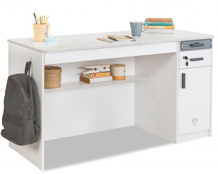 Детские столы и стулья Cilek Письменный стол с тумбой White столы из дсп на кухню