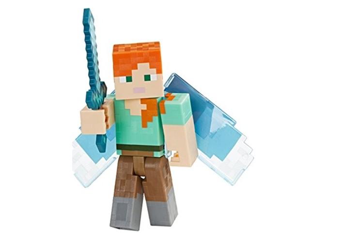 фигурка minecraft ender dragon размах крыльев 52 см Игровые наборы Minecraft Фигурка Alex with Elytra Wings 8 см