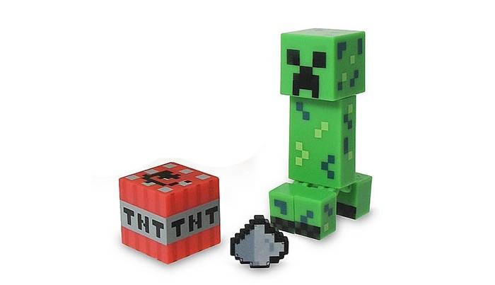 Картинка для Minecraft Фигурка Крипер с аксессуарами 8 см