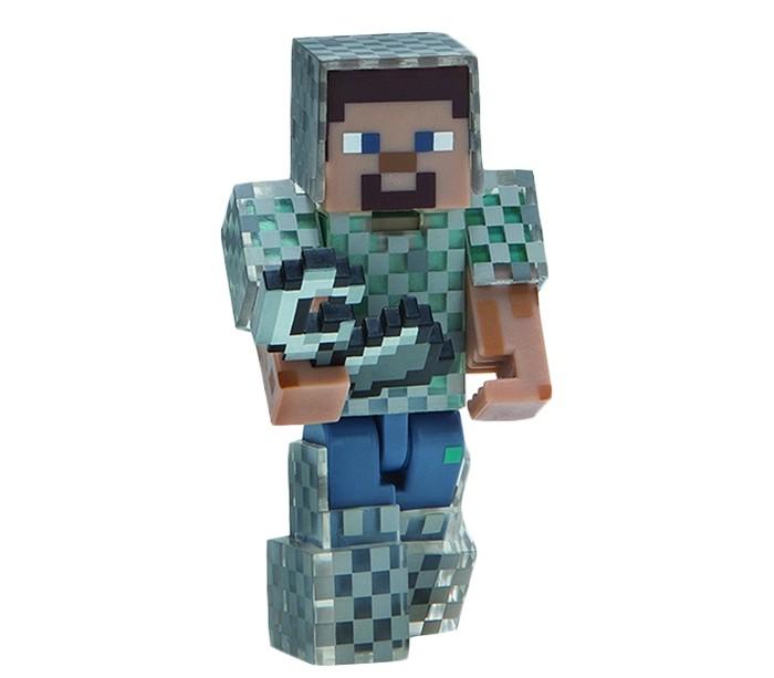 фигурка minecraft ender dragon размах крыльев 52 см Игровые наборы Minecraft Фигурка Steve in Chain Armor 8 см
