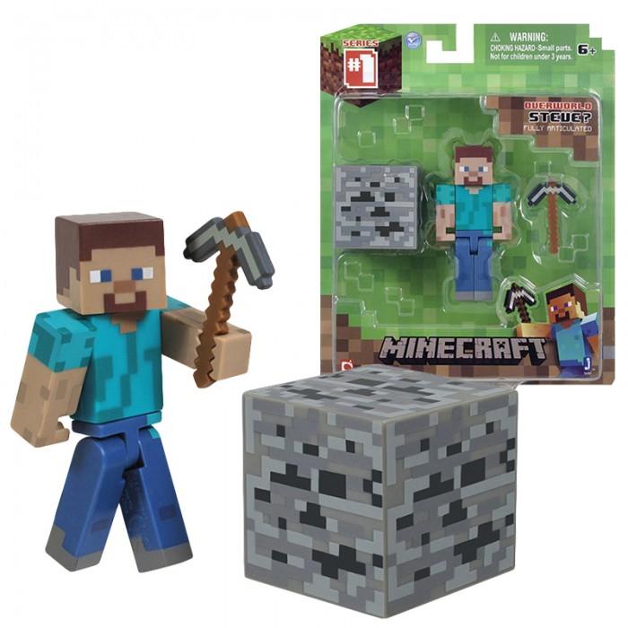 Картинка для Игровые наборы Minecraft Фигурка Стив Игрок с аксессуарами 8 см