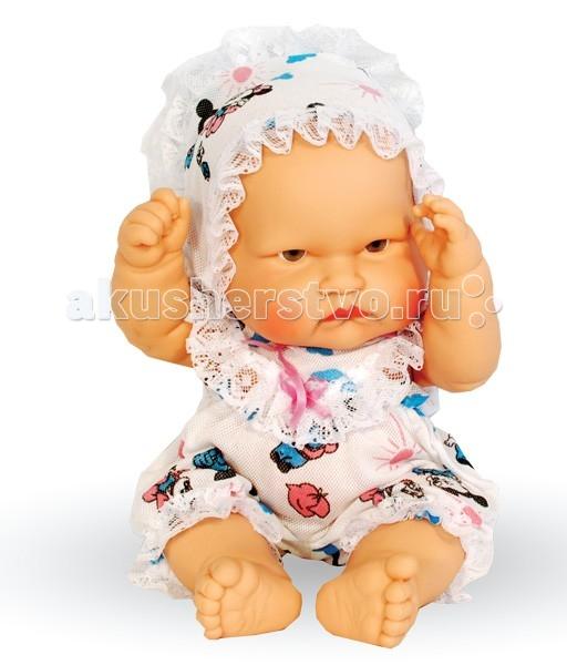 Огонек Пупс Маняша 40 смПупс Маняша 40 смКукла Огонек Пупс Маняша 40 см очень похожа на маленького ребенка, она очень приятная на ощупь и так и просится на ручки.   Особенности: Кукла изготовлена из высококачественной резины Волосы нарисованы на виниле У куклы серые глазки без ресничек (не закрываются) Приоткрытый ротик Пухлые щечки Реалистичные складочки на коже У пупса подвижные ручки, ножки и голова Ее можно одевать и раздевать Малышку можно купать В приоткрытый ротик можно вставлять небольшую соску-пустышку Кукла отлично помещается в детскую колясочку  Рост куклы: 40 см<br>