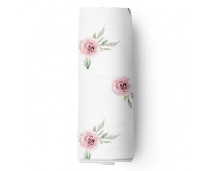 Пеленки Adam Stork муслиновая Watercolor Roses 120x120 см
