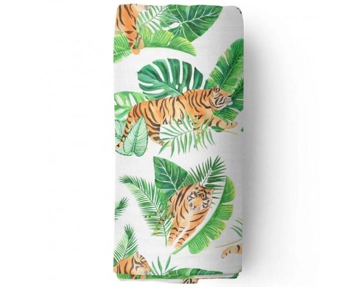 Пеленки Adam Stork муслиновая Watercolor Tigers 120x120 см