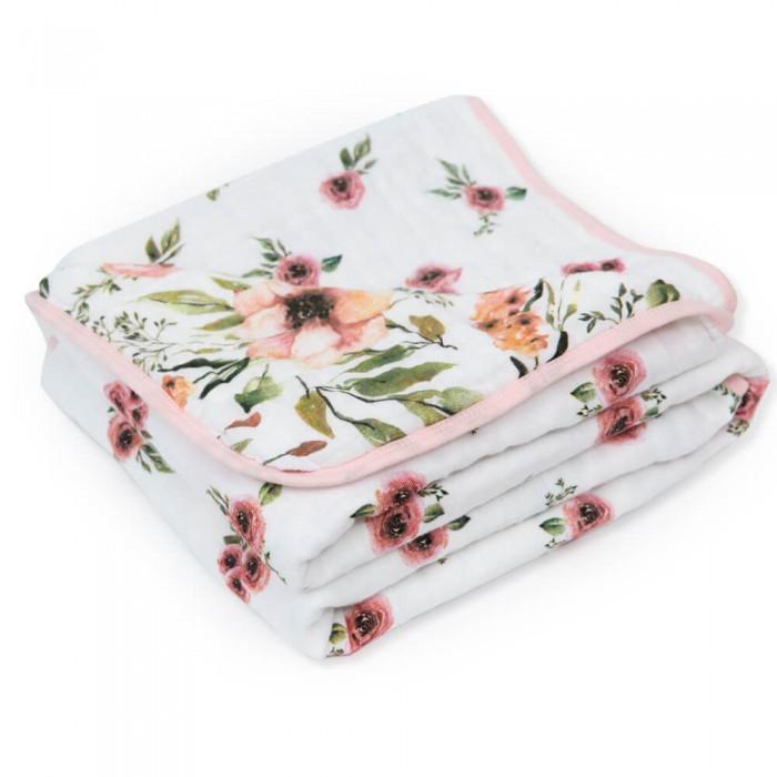 Одеяла Adam Stork муслиновое Watercolor Flowers 120х120 см