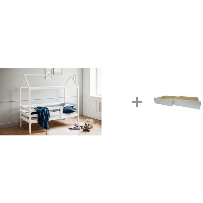 Купить Подростковая кровать RooRoom Домик с 1 ограничителем 160х70 и Ящики выкатные для кровати Домика 72х67 см в интернет магазине. Цены, фото, описания, характеристики, отзывы, обзоры