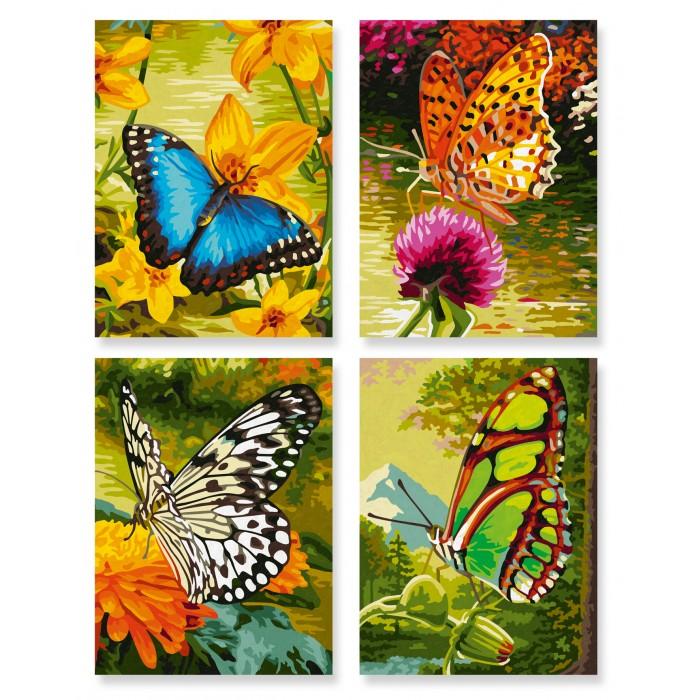 Картины по номерам Schipper Картина по номерам 4 шт. Бабочки 18х24 см раскраски schipper спящая красавица 18х24 см