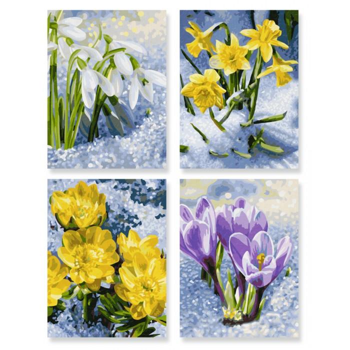 Картины по номерам Schipper Картина по номерам 4 шт. Весеннее пробуждение цветов 18х24 см раскраски schipper спящая красавица 18х24 см