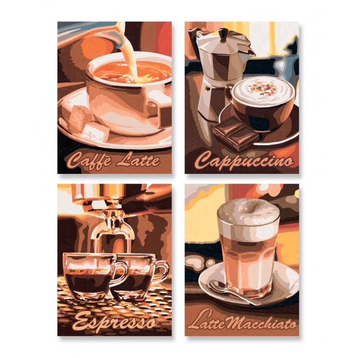 Картины по номерам Schipper Картина по номерам 4 шт. Кофе 18х24 см раскраски schipper спящая красавица 18х24 см