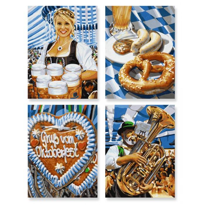 Творчество и хобби , Картины по номерам Schipper Картина по номерам 4 шт. Октоберфест в Мюнхене 18х24 см арт: 75014 -  Картины по номерам