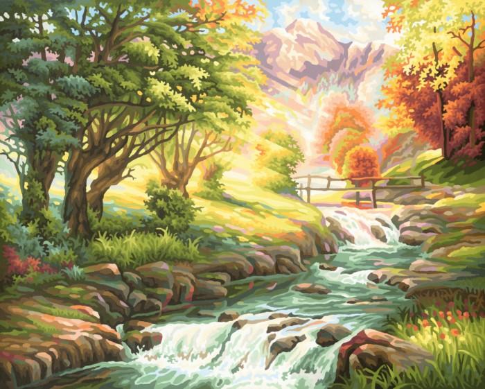 Schipper Картина по номерам Горная река 40х50 см