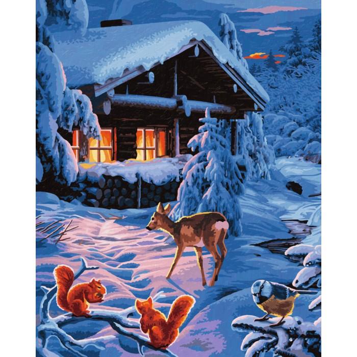 Картины по номерам Schipper Картина по номерам Романтическая зимняя ночь 40х50 см molly мозаичная картина зеленая долина 40х50 см