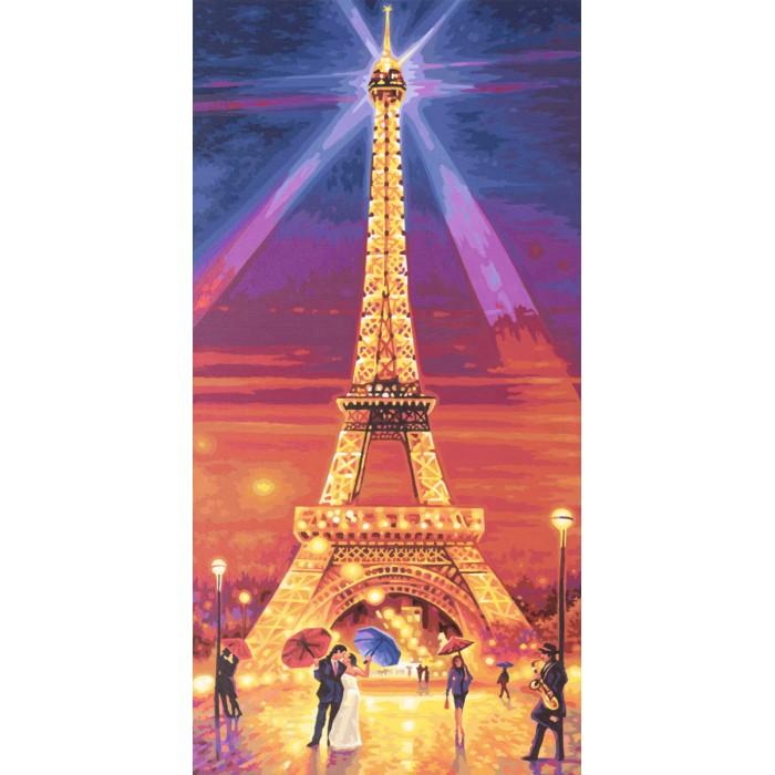 Schipper Картина по номерам Эйфелева башня ночью 40х80 см
