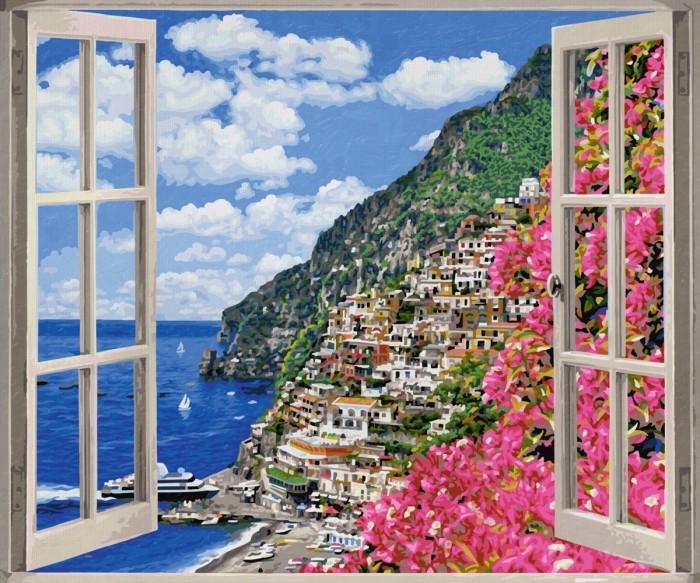 Творчество и хобби , Картины по номерам Schipper Картина по номерам Позитиано на Амальфийском побережье 50х60 см арт: 75029 -  Картины по номерам