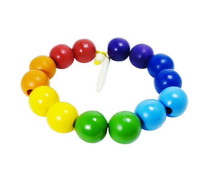 Деревянные игрушки RNToys Бусы Радуга шары цветные 14 шт. бусы из дерева унисекс