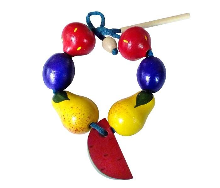 Деревянные игрушки RNToys Бусы Фрукты-ягоды малые бусы из дерева унисекс
