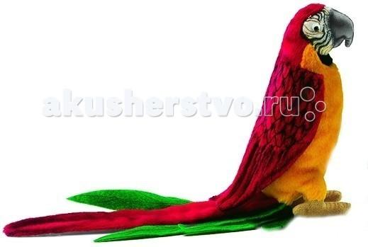 Мягкие игрушки Hansa Попугай красный 37 см hansa мягкая игрушка попугай
