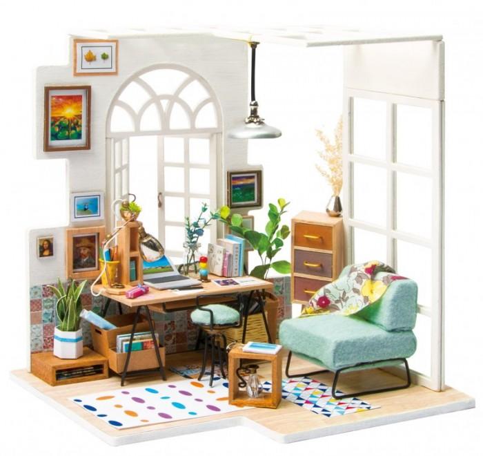 Наборы для творчества Bondibon Набор для творчества миниатюра интерьерная 3D Домашний офис румбокс