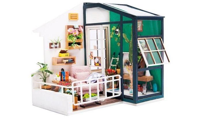 Bondibon Набор для творчества миниатюра интерьерная 3D Балкон румбокс фото