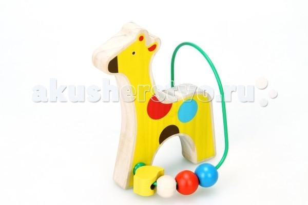 Деревянные игрушки Lucy & Leo Лабиринт Жираф LL128