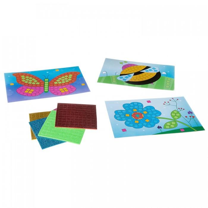 Аппликации для детей Bondibon Набор творчества Блестящая аппликация Цветочная поляна