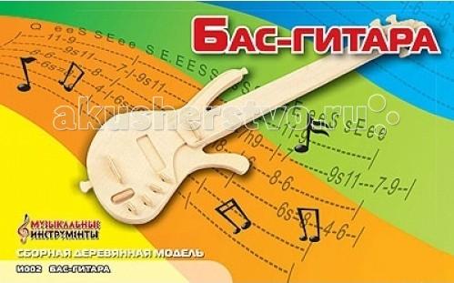 Конструкторы Мир деревянных игрушек (МДИ) Сборная модель Бас-гитара конструкторы eastcolight сборная модель science time скелет стегозавра