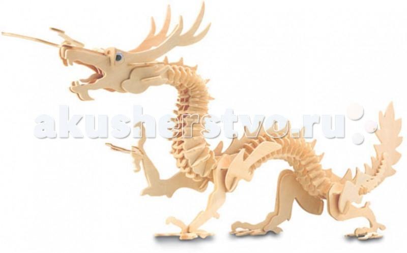 Конструкторы Мир деревянных игрушек (МДИ) Сборная модель Дракон конструкторы eastcolight сборная модель science time скелет трицератопса 14 элементов