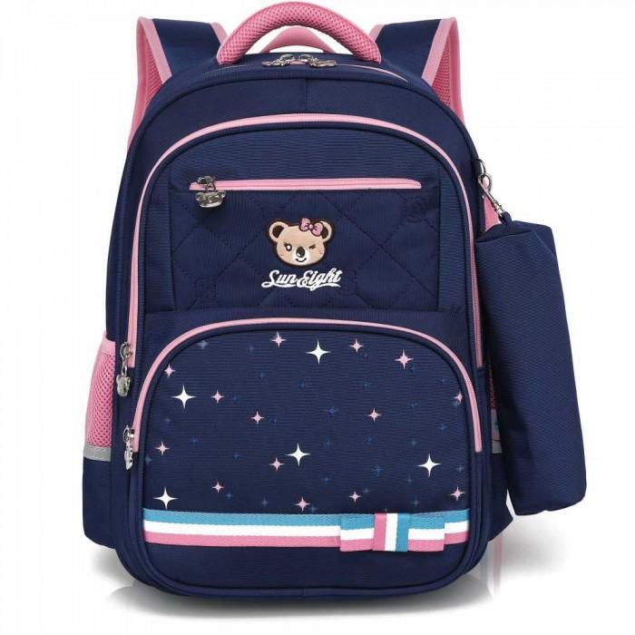 Купить Школьные рюкзаки, Sun eight Рюкзак школьный в комплекте с пеналом для девочки SE-2730