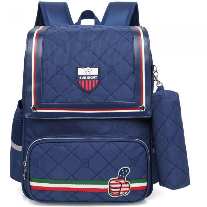 Купить Школьные рюкзаки, Sun eight Рюкзак школьный в комплекте с пеналом для мальчика SE-2697