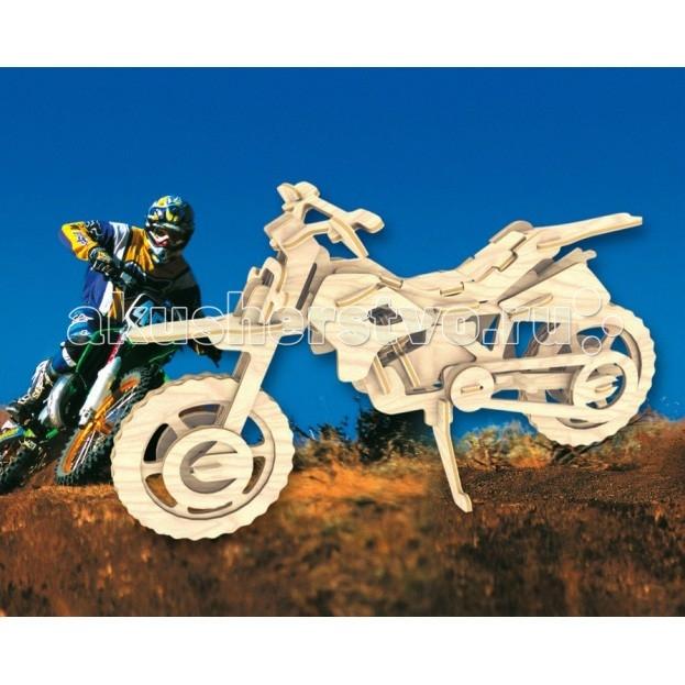 Мир деревянных игрушек (МДИ) Сборная модель Кроссовый мотоцикл